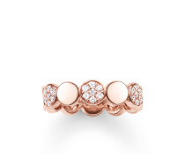 "Ring ""Sparkling Circles"", Sterlingsilber Roségold vergoldet, Glam & Soul"