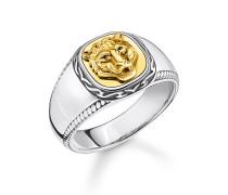 Ring Tiger gold, Sterlingsilber Gelbgold vergoldet