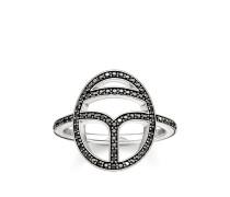 """Ring """"Schwarzer Skarabäus"""", Sterlingsilber, Glam & Soul"""