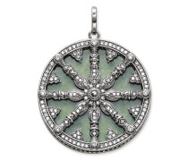 """Anhänger """"Karma Wheel mit Aventurin-Scheibe"""", Sterlingsilber, Karma Beads"""