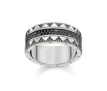 "Ring ""Hieroglyphen-Ornamentik"", Sterlingsilber, Glam & Soul"