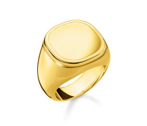 "Ring ""Classic"", Sterlingsilber Gelbgold vergoldet, Rebel at heart"
