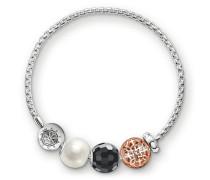 Armband, Sterlingsilber Roségold vergoldet, Karma Beads