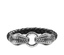 "Lederarmband ""Schlange"", Sterlingsilber, Rebel at heart"