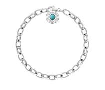 Charm-Armband Türkis, Sterlingsilber