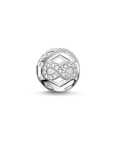"""Bead """"Weißes Infinity Symbol"""", Sterlingsilber, Karma Beads"""