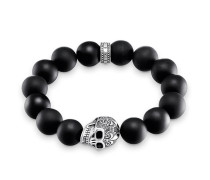 Armband Power Bracelet Totenkopf, Sterlingsilber, Rebel at heart