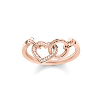 """Ring """"TOGETHER Herz"""", Sterlingsilber Roségold vergoldet, Glam & Soul"""