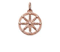 "Anhänger ""Karma Wheel Klein"", Sterlingsilber Roségold vergoldet, Karma Beads"