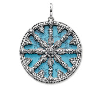 "Anhänger ""Karma Wheel mit Türkis-Scheibe"", Sterlingsilber, Karma Beads"