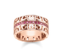 "Ring ""asiatische Ornamente"", Sterlingsilber Roségold vergoldet, Glam & Soul"