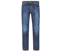 Jeans mit Stretchanteil, Slim Fit in Blau