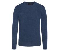 Pullover im Wollmix, in Bouclé-Optik in Blau