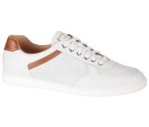 Sneaker, mit aufwendiger Perforierung in Weiss