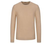 Pullover in Reiskorn-Optik in Braun