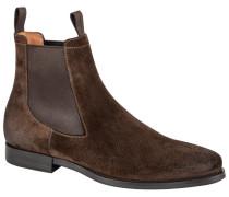 Eleganter Chelsea Boot, Veloursleder in Braun
