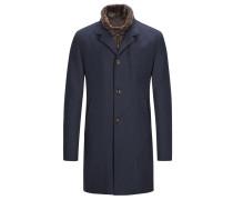 Mantel mit Kaschmiranteil und heraustrennbarer Blende in Marine für Herren