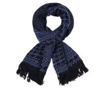 Schal mit modischem Muster in Blau