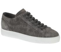 Sneaker in Veloursleder in Grau