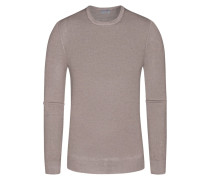 Leichter Pullover, Merino-Vintage in Taupe