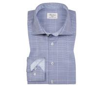 Oberhemd, Slimline in Blau für Herren