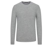 Pullover mit Seidenanteil in Grau