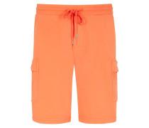 Sweat-Bermuda mit Cargotaschen in Orange
