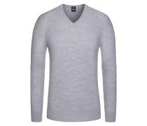 Pullover in Reiskorn-Optik in Grau für Herren