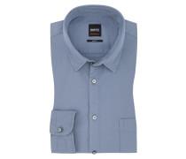 Freizeithemd, Slim Fit in H-blau für Herren