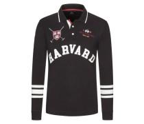 Sweatshirt mit Polokragen in Schwarz für Herren