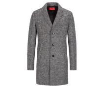 Mantel in modischem Strukturmuster in Grau für Herren