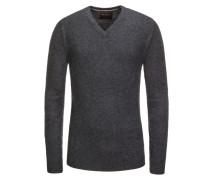 Pullover, 100% Kaschmir in Grau für Herren