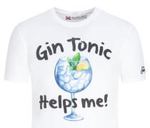 Mc 2 Saint Barth, T-Shirt mit Frontprint in Weiss
