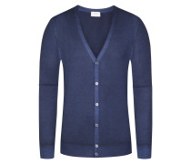 Strickjacke, Regular Fit in Blau für Herren