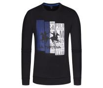 Sweatshirt, O-Neck in Schwarz für Herren