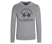 Sweatshirt, O-Neck, mit Frontprint in Grau für Herren