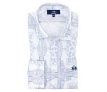 Oberhemd mit Paisley-Muster, Regular Fit in Weiss