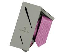 Hochwertiges Geschenke-Set, mit Krawatte und Einstecktuch in Rot für Herren