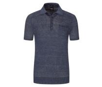 Leinen-Poloshirt in Marine für Herren