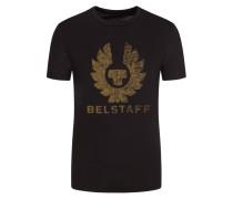 T-Shirt mit Frontprint in Schwarz