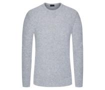 Pullover, Bouclé-Strick in Grau für Herren