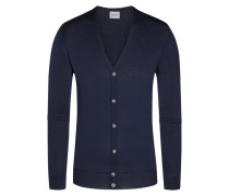 Strickcardigan, Petworth, Regular Fit in Blau für Herren