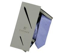 Hochwertiges Geschenke-Set, mit Krawatte und Einstecktuch in Blau für Herren