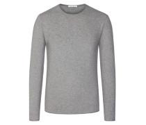 Sweatshirt, unifarben in Grau