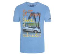 Mc 2 Saint Barth, T-Shirt mit Urlaubs-Print in Hellblau