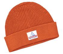 Wollmütze in Orange für Herren