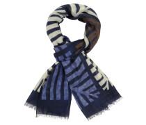 Schal aus reiner Wolle in Blau