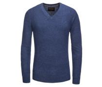 Pullover, 100% Kaschmir in Blau für Herren