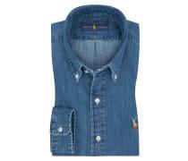 Jeanshemd, Custom Fit in Blau für Herren