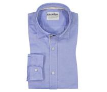 Freizeithemd, 100% Baumwolle in Blau